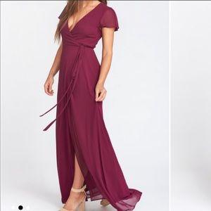 NWTshowmeyourmumu Noelle Wrap Dress Merlot Chiffon